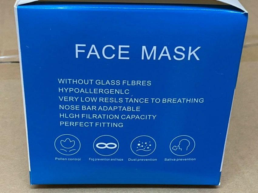 50 PCS Face Mask Medical Surgical Dental Disposable 3-Ply Ear-loop Mouth Cover 6