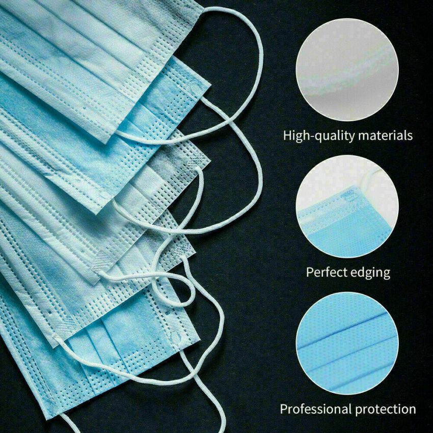 50 PCS Face Mask Medical Surgical Dental Disposable 3-Ply Ear-loop Mouth Cover 2