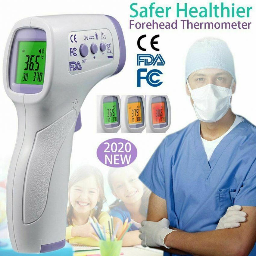 Medical NON-CONTACT Body Forehead IR Infrared Laser Digital Thermometer Accurate 2