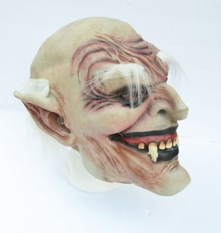 Halloween Vampire Mask Scary Latex Old Vampire Dracula Costume Mask with Hair