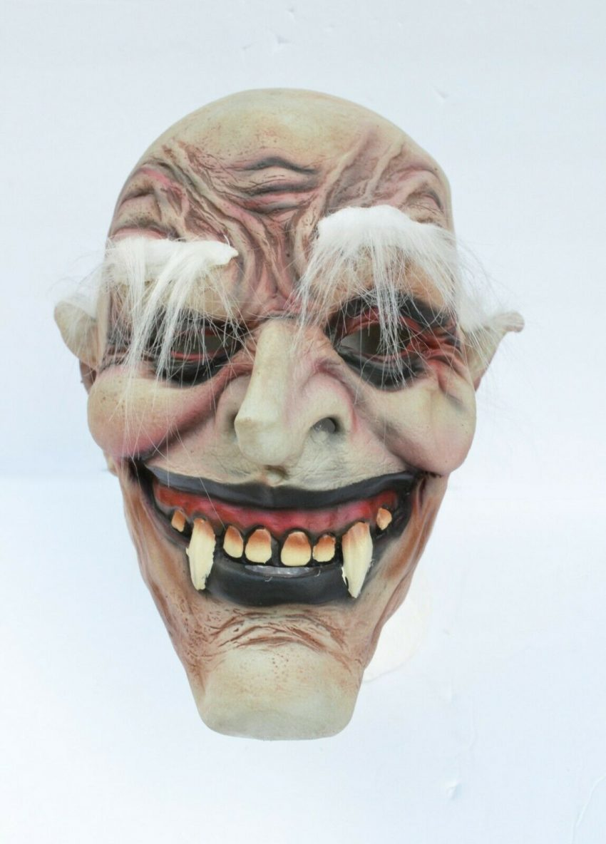 Halloween Vampire Mask Scary Latex Old Vampire Dracula Costume Mask with Hair 5