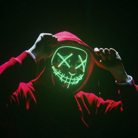 Halloween LED Glow Mask 3 Modes Light Up The Purge Movie Cosplay Costume Party 2