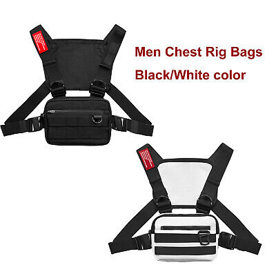 Men Chest Rig Bags Backpack Molle Tactical Harness Chest Vest Assault Pack 9