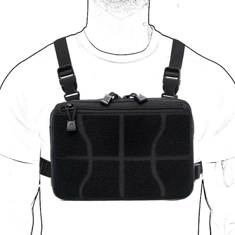 Outdoor Tactical Molle Combat Chest Rig Bag Front Pouch Recon Kit Pack 9