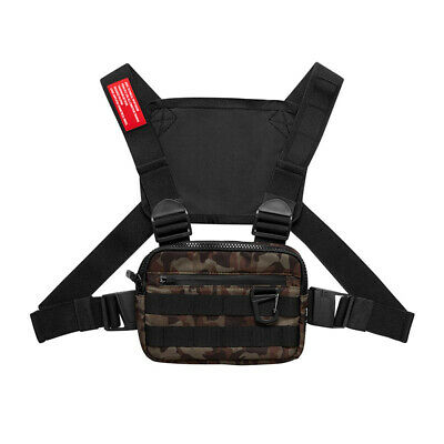 Men Chest Rig Bags Backpack Molle Tactical Harness Chest Vest Assault Pack 6