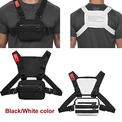 Men Chest Rig Bags Backpack Molle Tactical Harness Chest Vest Assault Pack