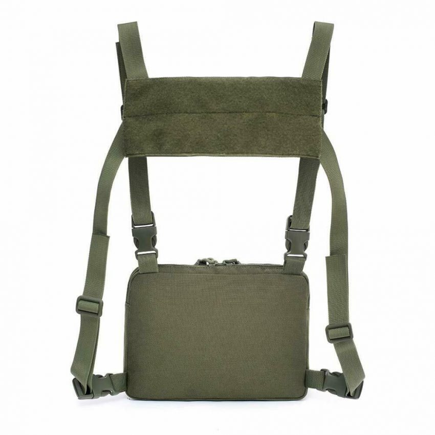 Outdoor Tactical Molle Combat Chest Rig Bag Front Pouch Recon Kit Pack 3