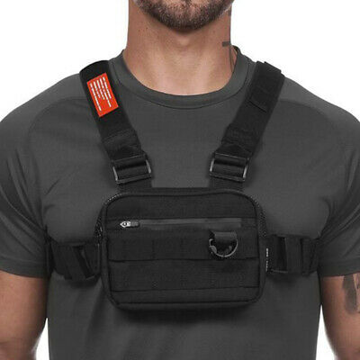 Men Chest Rig Bags Backpack Molle Tactical Harness Chest Vest Assault Pack 2