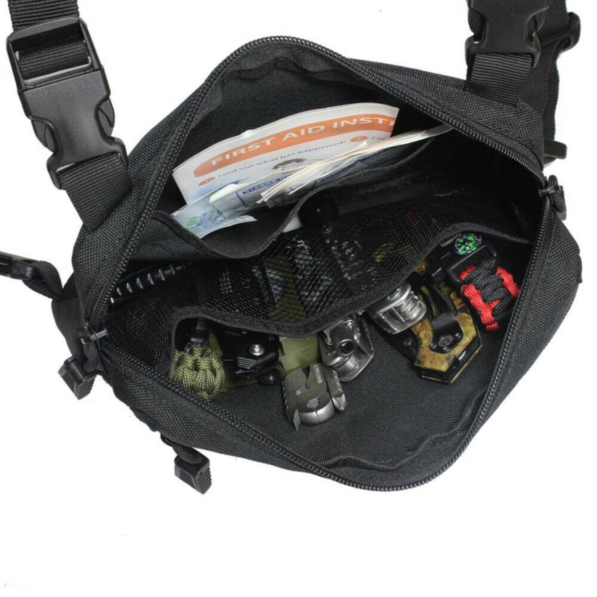 Outdoor Tactical Molle Combat Chest Rig Bag Front Pouch Recon Kit Pack 8