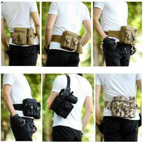 Outdoor Utility Tactical Waist Fanny Pack Pouch Military Camping Hiking Belt Bag 9