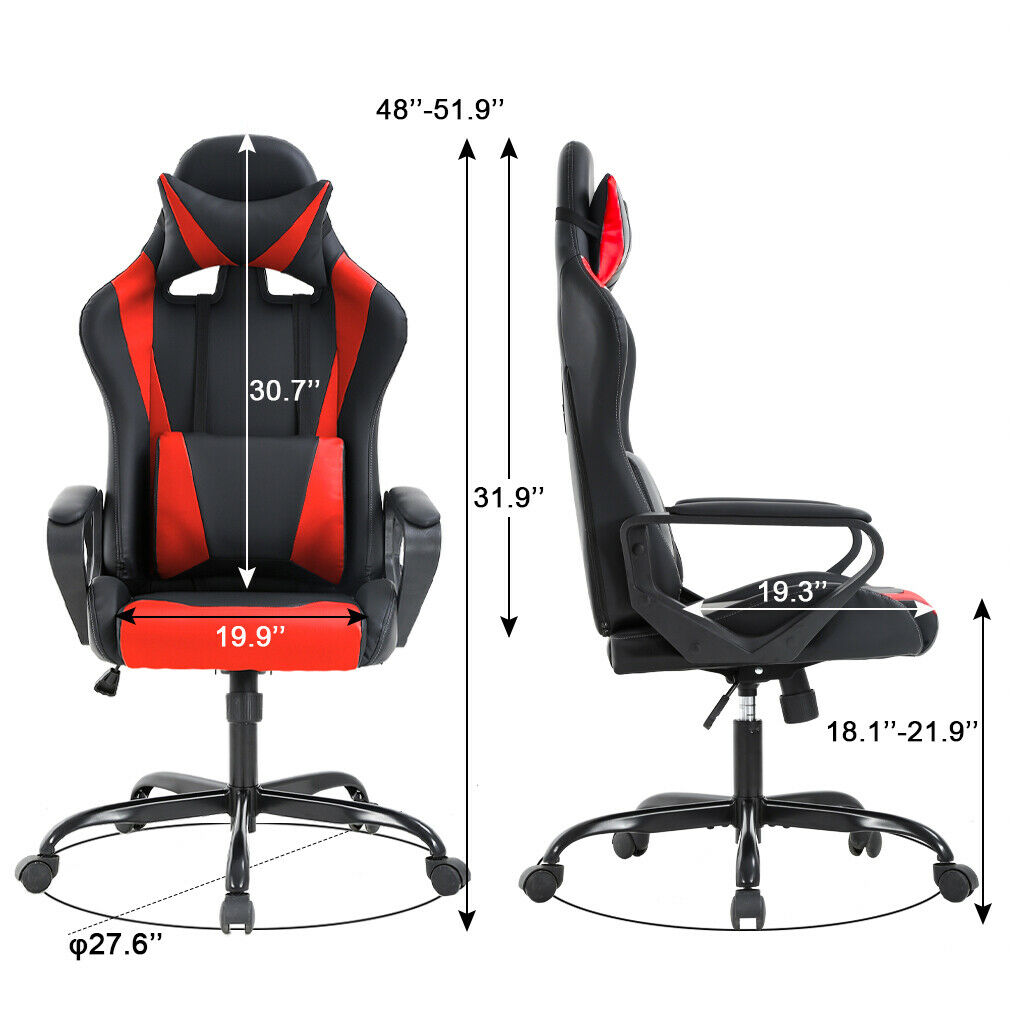 Gaming Chair Office Chair Racing Chair with Lumbar Support Arms Headrest High 2