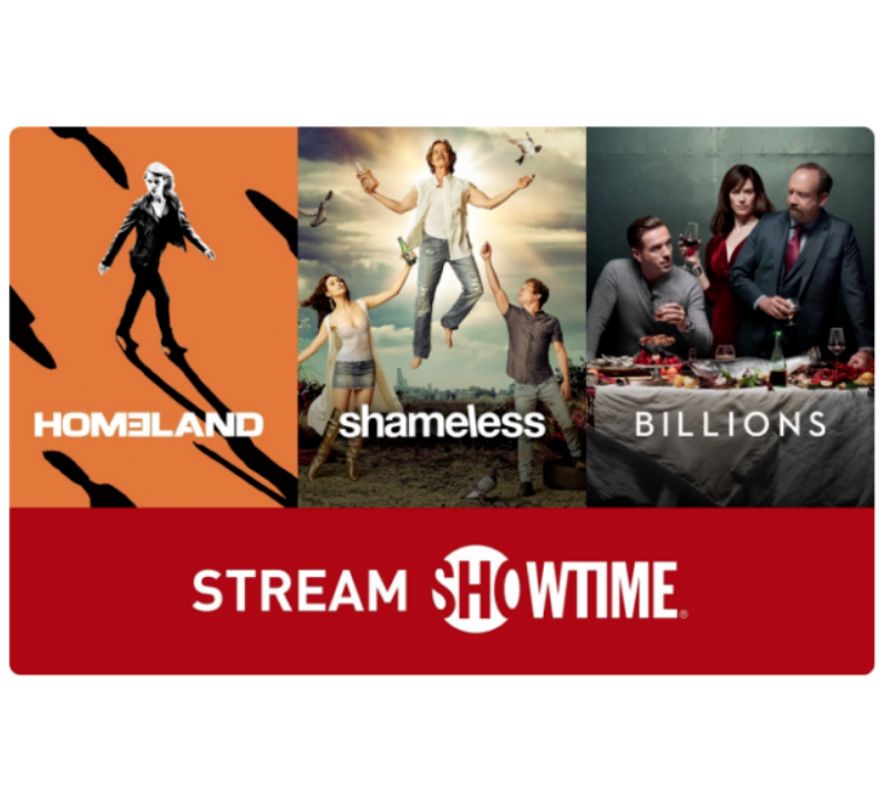 SHOWTIME Gift Card - $25 $50 $100 - Email delivery
