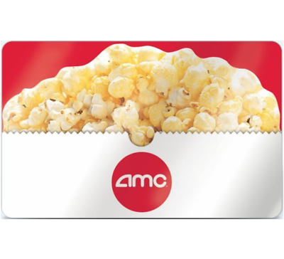 AMC Theatres Gift Card - $25 $35 $50 or $100 - Email delivery