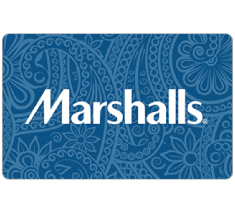 Marshalls Gift Card - $25 $50 or $100 - Email delivery