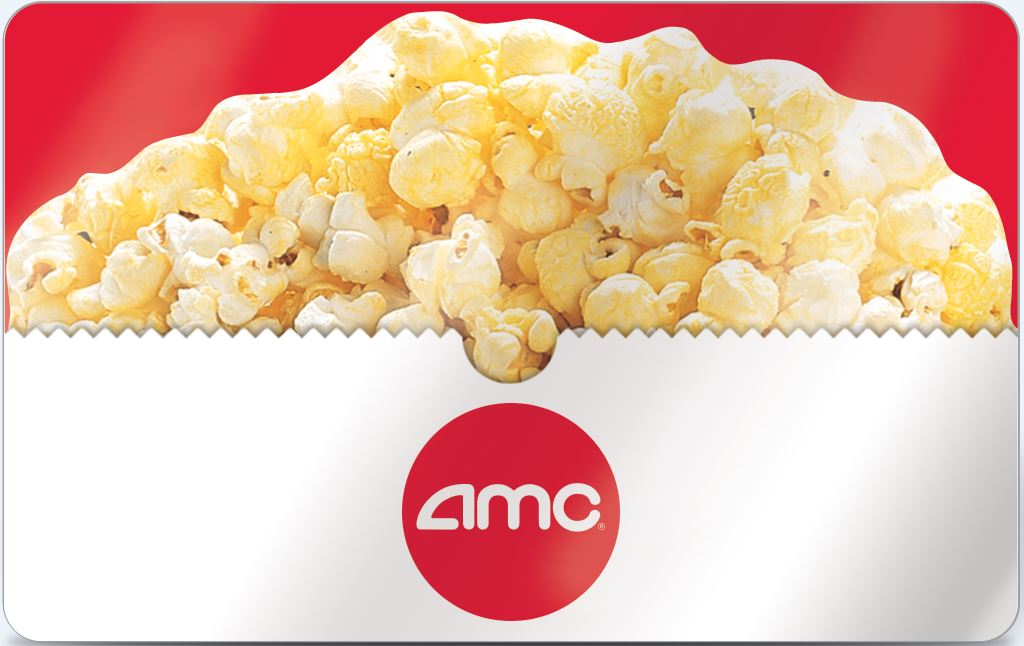 AMC Theatres Gift Card - $25 $35 $50 or $100 - Email delivery 1