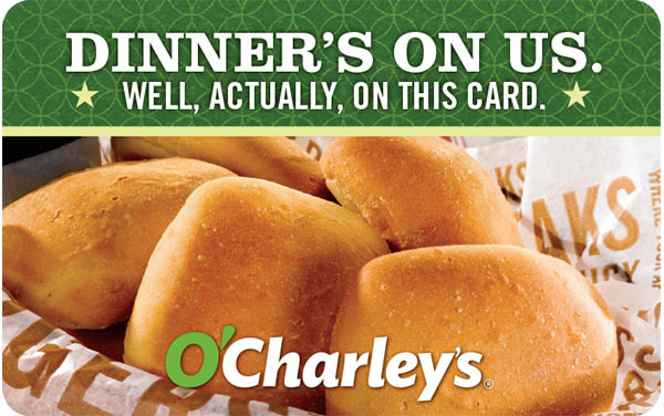 O'Charley's Gift Card - $25 $50 or $100 - Email delivery 1