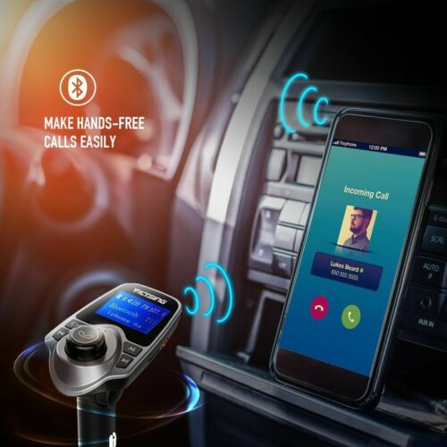 Auto Hands Free Bluetooth Wireless Car AUX Audio Receiver FM Adapter USB Charger 8
