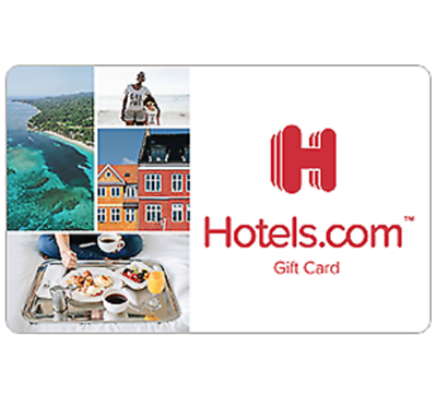 Hotels.com Gift Card - $25 $50 $100 or $200 - Email delivery