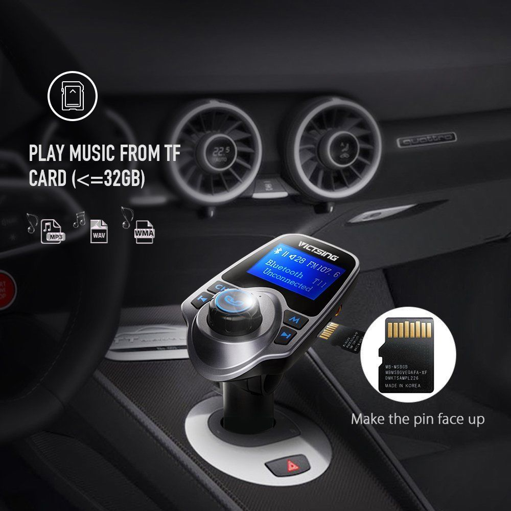 Auto Hands Free Bluetooth Wireless Car AUX Audio Receiver FM Adapter USB Charger 4