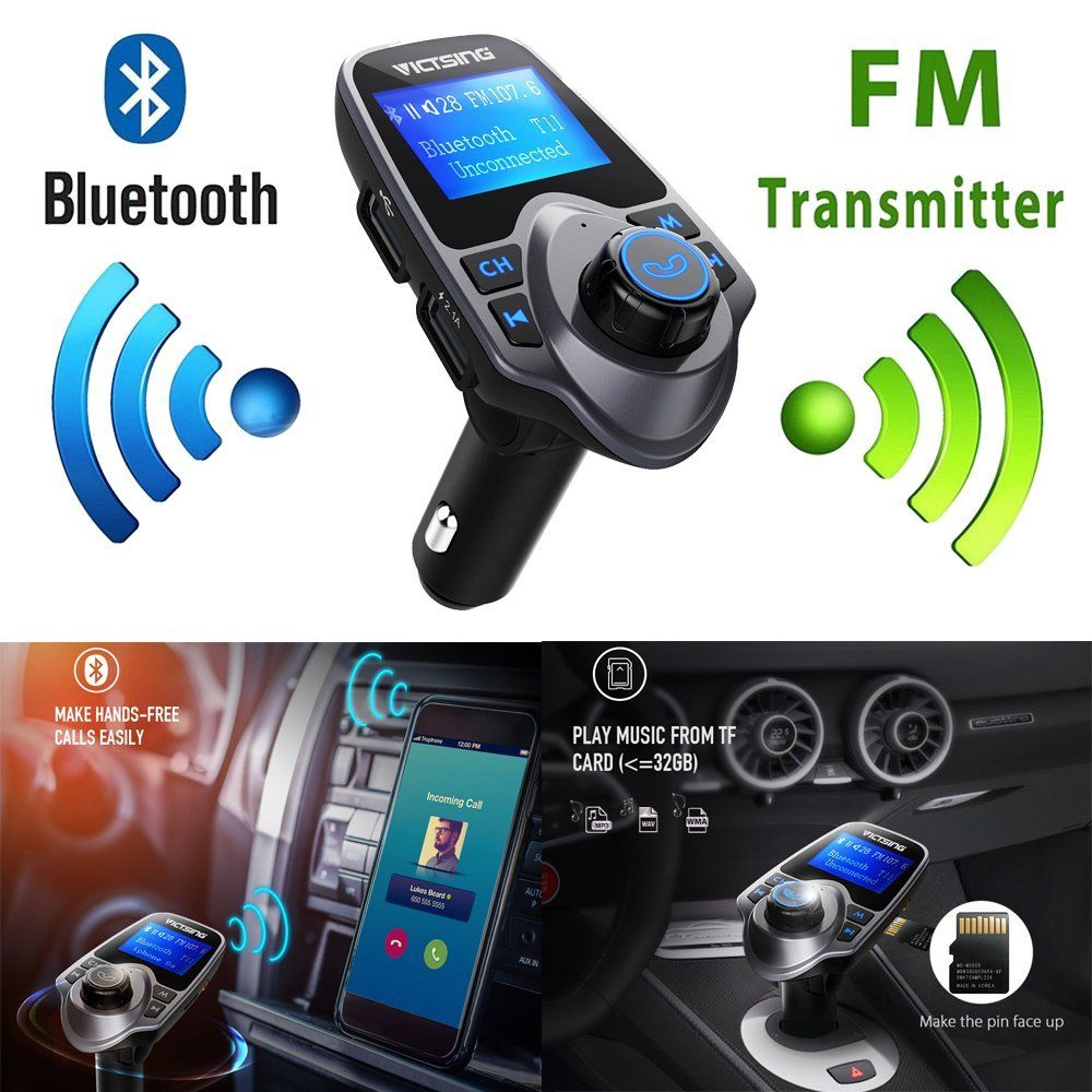 Auto Hands Free Bluetooth Wireless Car AUX Audio Receiver FM Adapter USB Charger 1