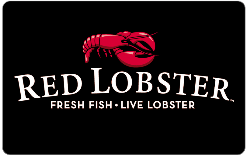 Red Lobster Restaurants® - Gift Card $25 $50 or $100 - Email delivery