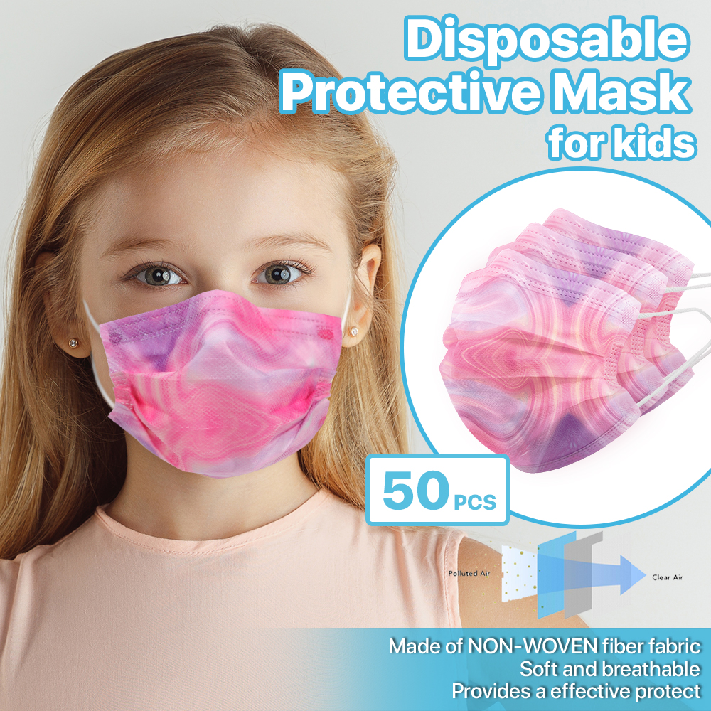 [For KID] 50 PCS Stylish Disposable Face Mask 3-Ply Non-Medical Cover - Blossom 1
