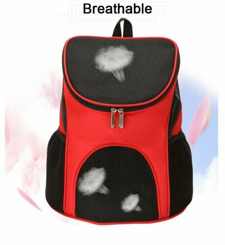 Outdoor Portable Pet Carrier Backpack Dog Cat Zipper Mesh Breathable 6