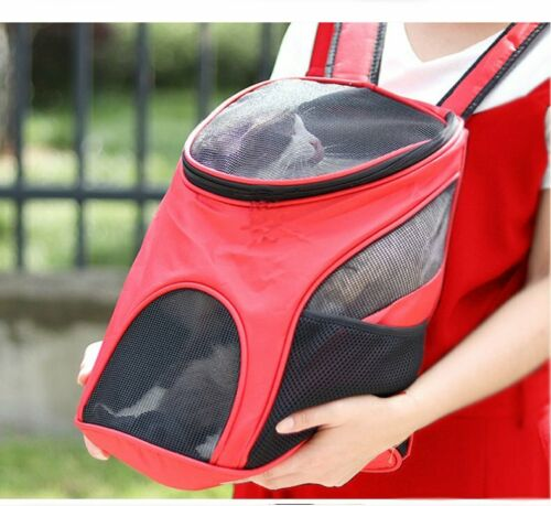 Outdoor Portable Pet Carrier Backpack Dog Cat Zipper Mesh Breathable 1
