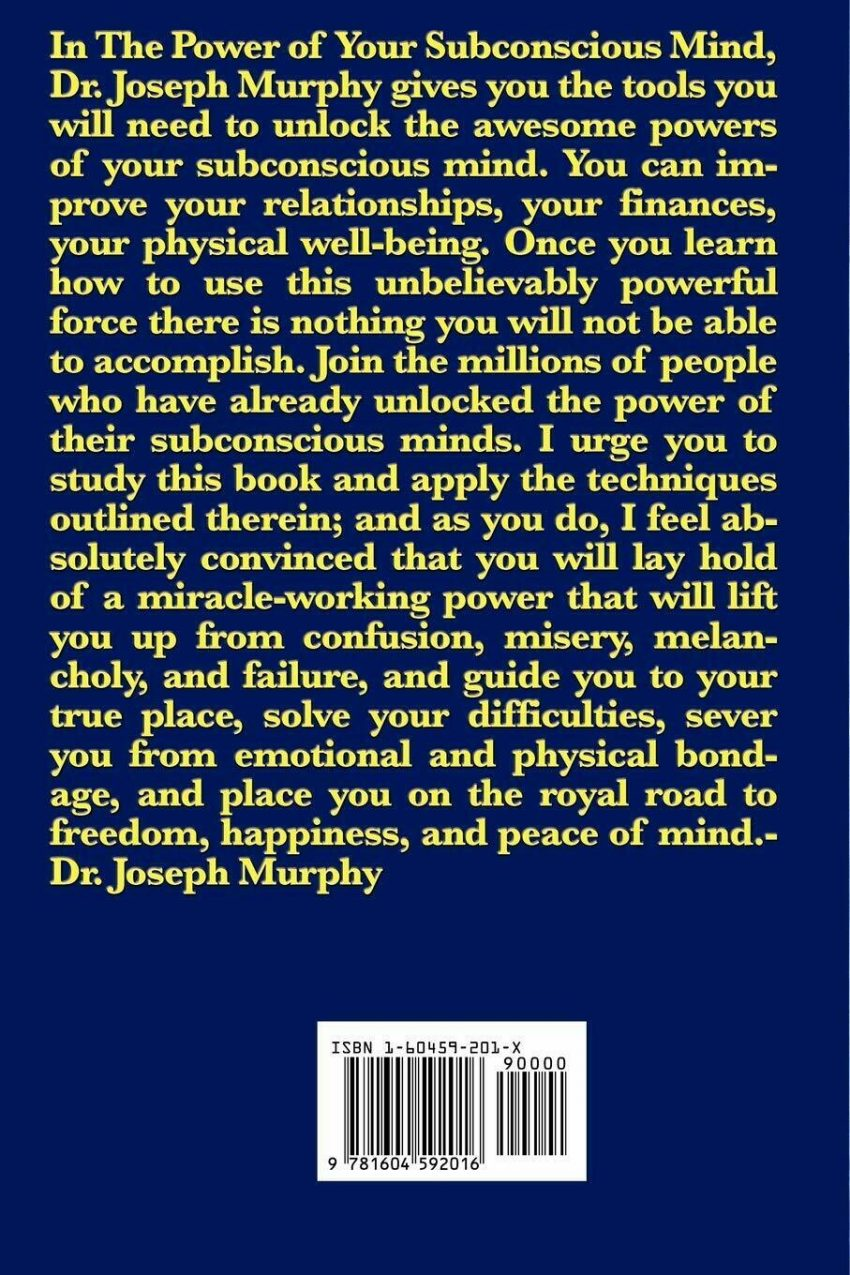 The Power of Your Subconscious Mind by Joseph Murphy (2008, Paperback) Book 1