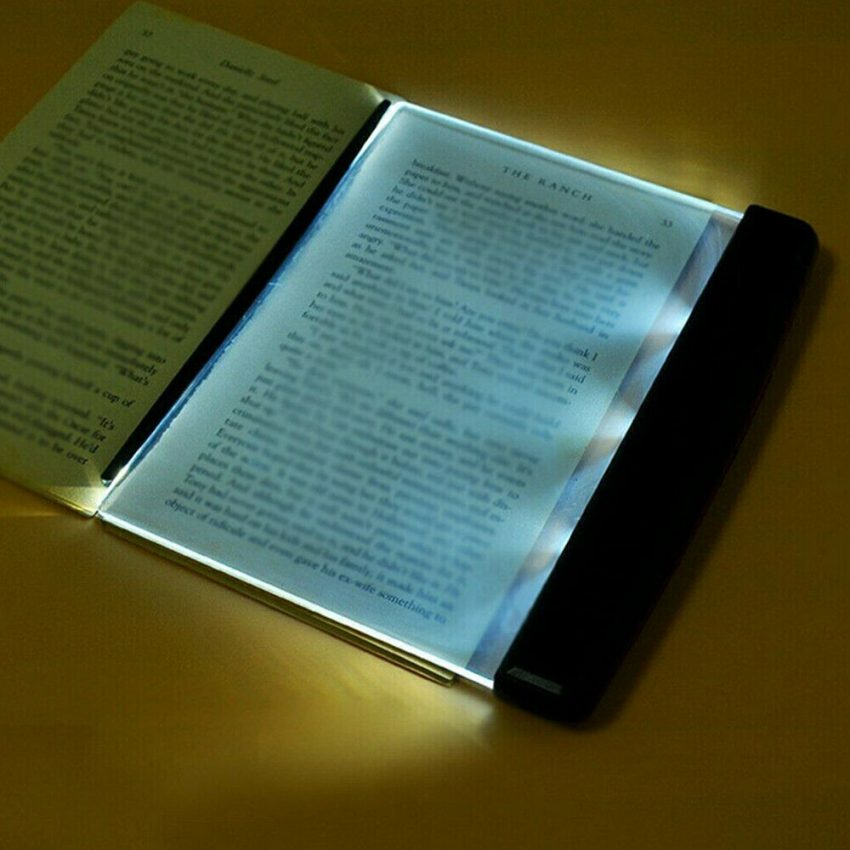 Creative New Flat Plate LED Book Light Reading Night Portable Home Bedroom US 3