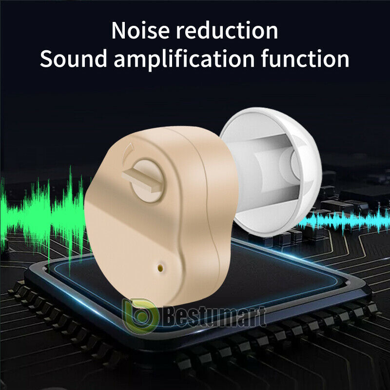 2x Small In The Ear Invisible Best Sound Amplifier Adjustable Tone Hearing Aids 1