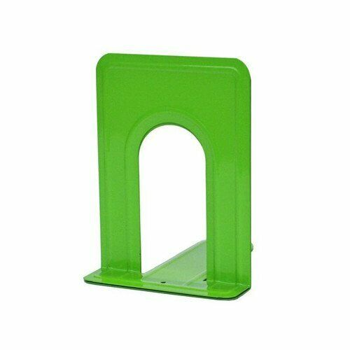 Sturdy Metal Bookends with Nonskid Base 5 x 6 x 6 1/2 Inches, Set of 2 2