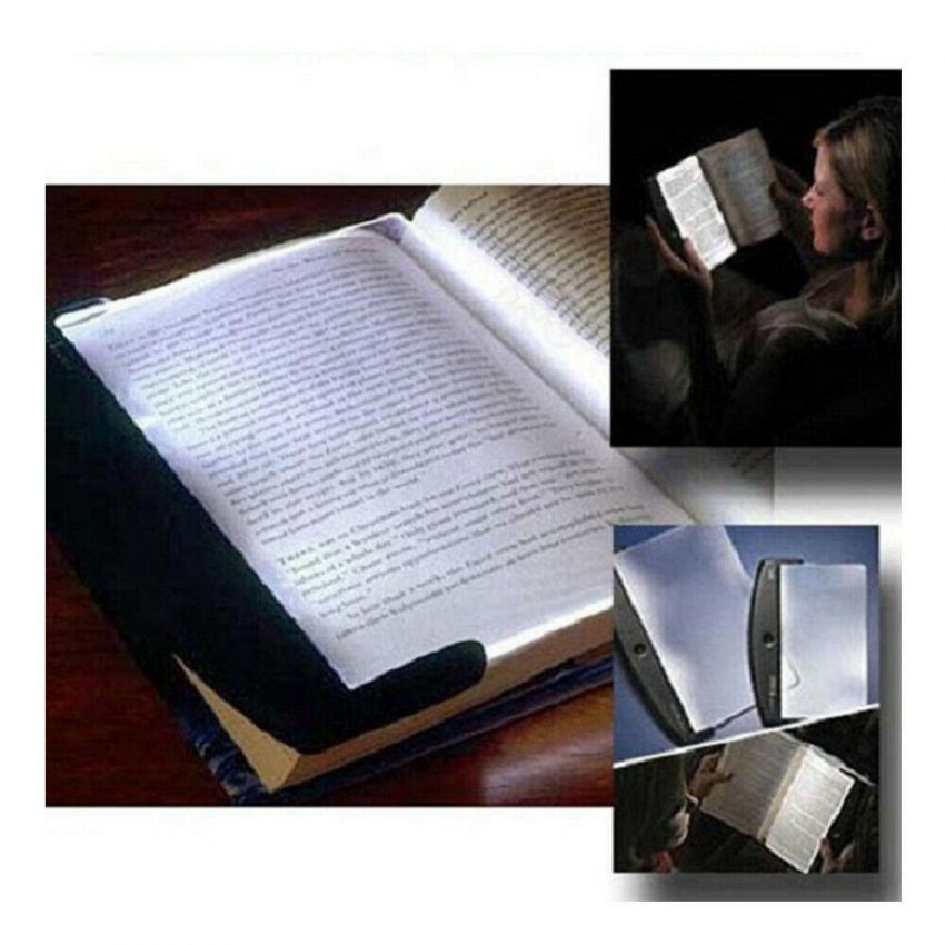 Creative New Flat Plate LED Book Light Reading Night Portable Home Bedroom US 1