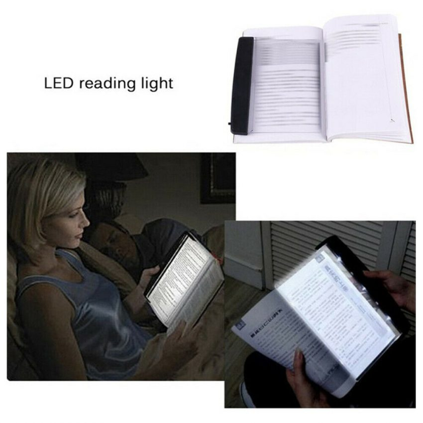 Creative New Flat Plate LED Book Light Reading Night Portable Home Bedroom US 2