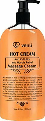 Hot Cream Anti Cellulite & Muscle Relief Gel, Fat burner and pain relief