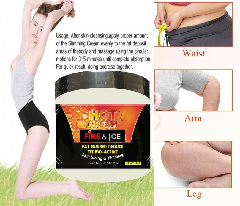 Anti Cellulite Slimming Weight Loss Cream Fat Burner Firming Body Lotion Toning 4