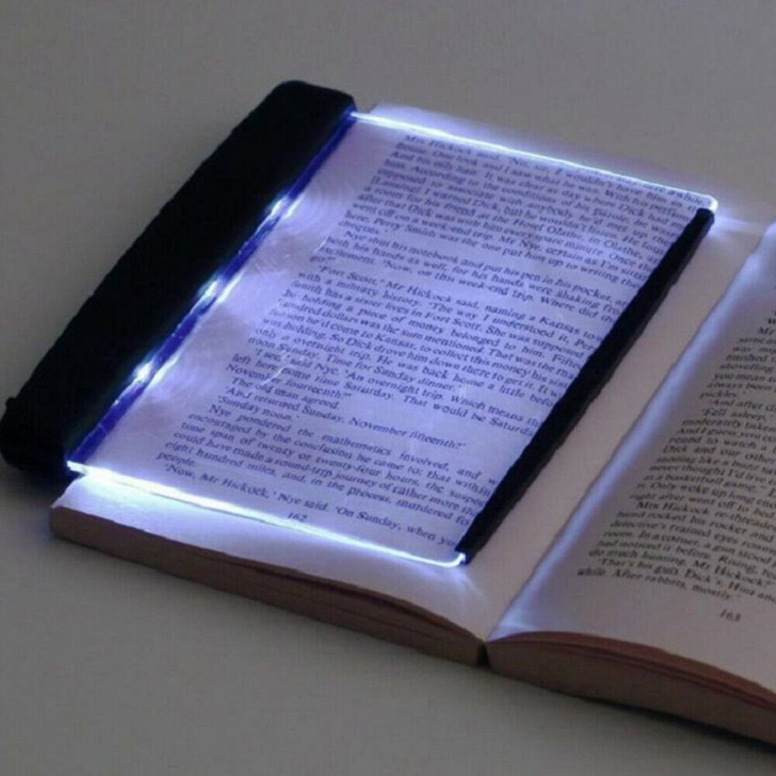 Creative New Flat Plate LED Book Light Reading Night Portable Home Bedroom US