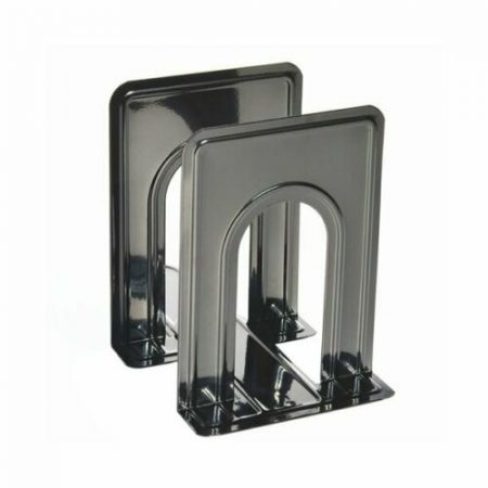 Sturdy Metal Bookends with Nonskid Base 5 x 6 x 6 1/2 Inches, Set of 2