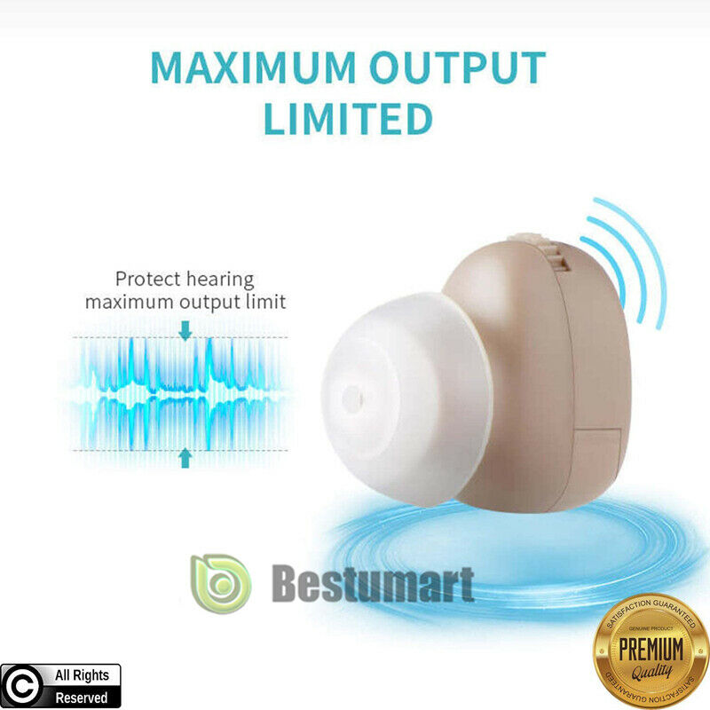 2x Small In The Ear Invisible Best Sound Amplifier Adjustable Tone Hearing Aids 2