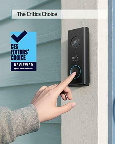 eufy Security, Wireless Add-on Video Doorbell with 2K Resolution, 2-Way Audio, 2
