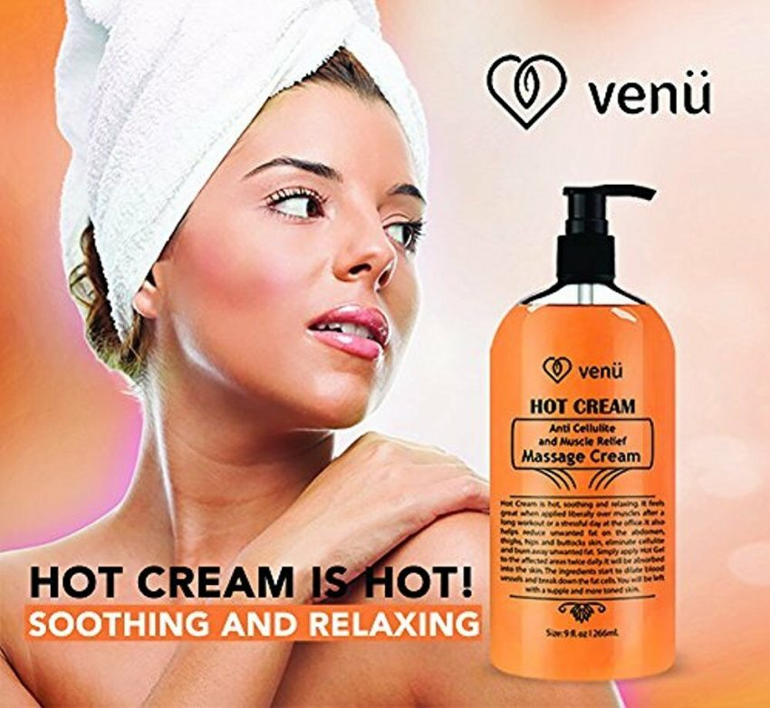 Hot Cream Anti Cellulite & Muscle Relief Gel, Fat burner and pain relief 5