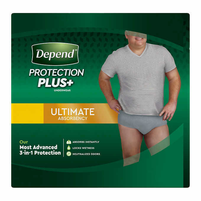 Depend FIT-FLEX Underwear for Men Size: Sm/Med - 92Ct - Free Shipping! 2