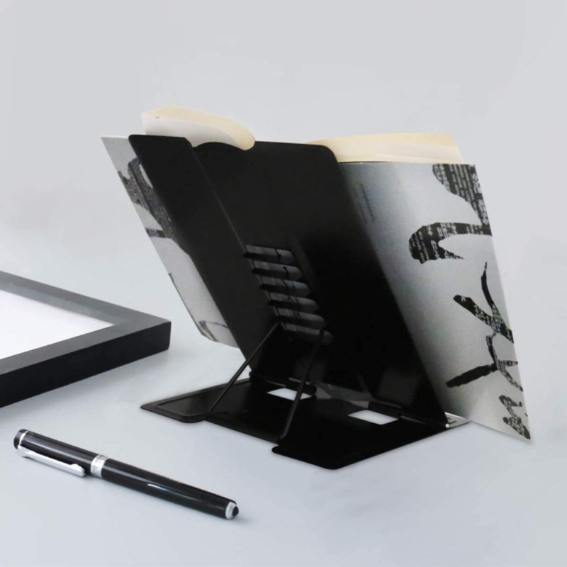Desk Book Stand Document Holder Heavy Duty Metal Reading Stand With Book Magazin 6