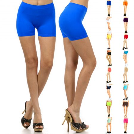Stretch Casual Shorts Biker Exercise Yoga Workout