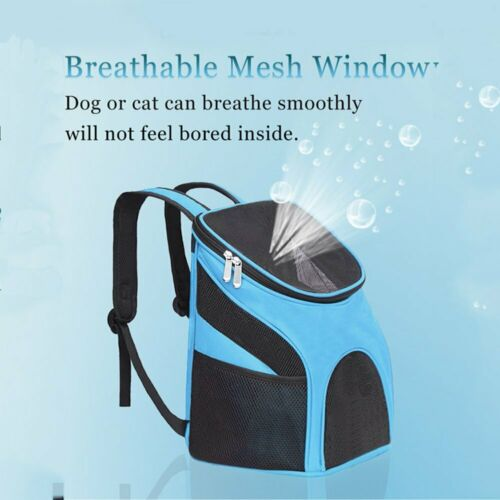 Outdoor Portable Pet Carrier Backpack Dog Cat Zipper Mesh Breathable 7