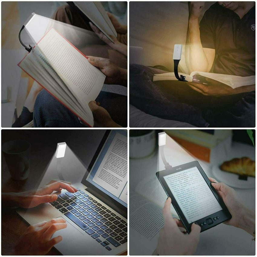 Book Light Clip-On Reading Light LED Rechargeable Portable Night Reading For Bed 6