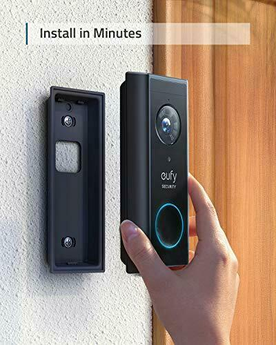 eufy Security, Wireless Add-on Video Doorbell with 2K Resolution, 2-Way Audio, 5