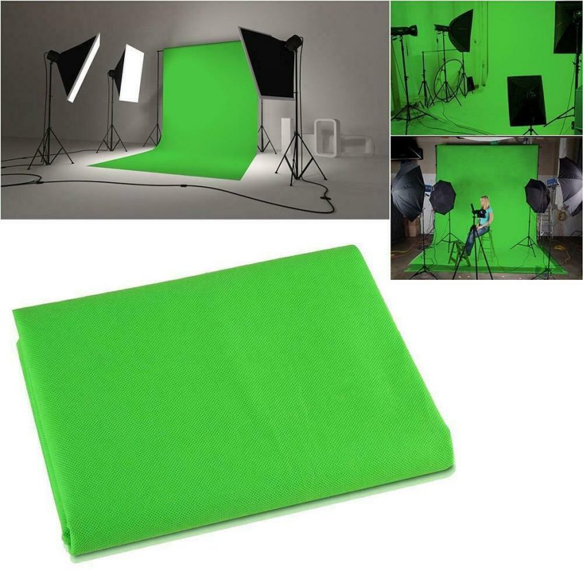 Photography 10ft Backdrop Stand Kit 1.6*3m Green Screen Black White with Clamps 3