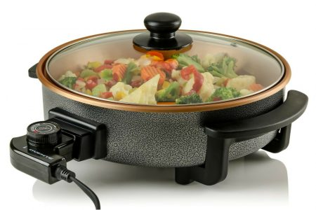 Ovente Electric Skillet 12 Inch with Nonstick Aluminum Body Copper SK11112CO