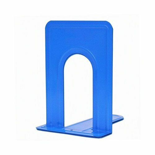 Sturdy Metal Bookends with Nonskid Base 5 x 6 x 6 1/2 Inches, Set of 2 1